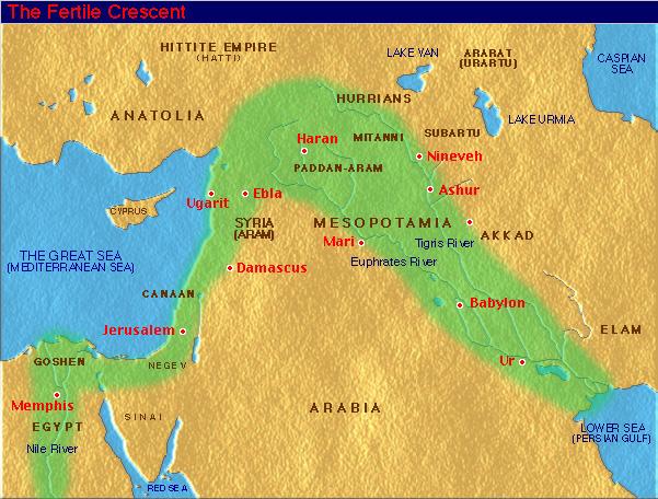 Proche Orient Ancien Carte du Proche Orient Ancien